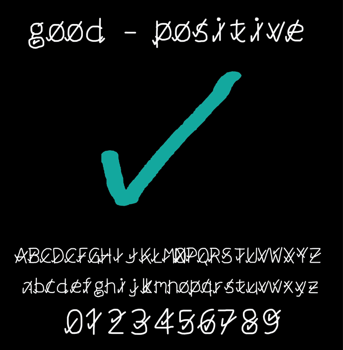 good positive Font poster