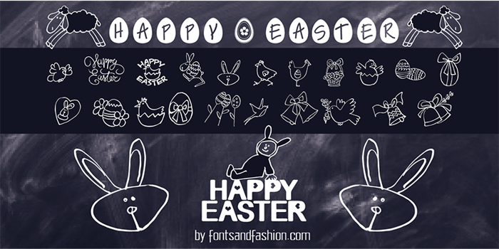 HAPPY EASTER Font poster
