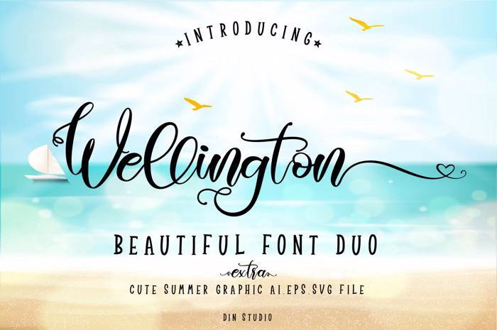 Wellington Regular Font poster