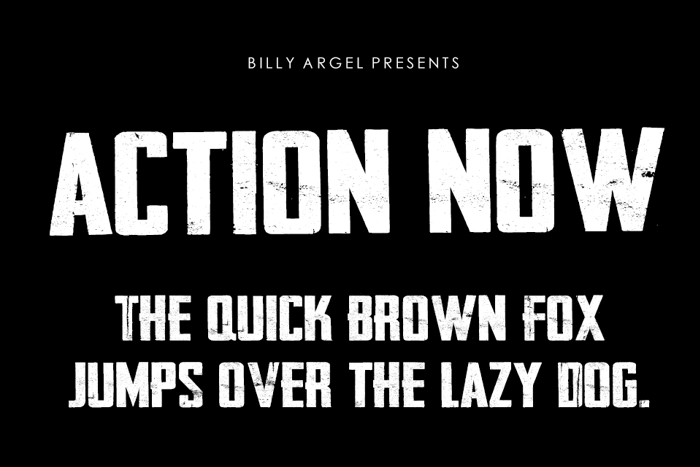 Action Now Font poster