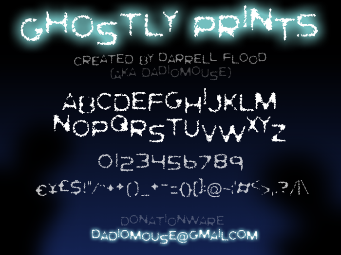 Ghostly Prints Font poster