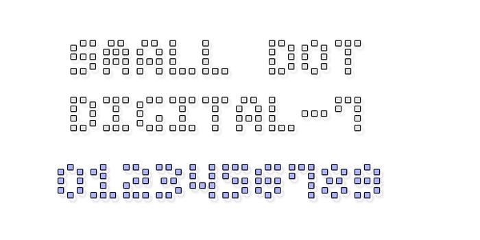 Small Dot Digital-7 Font poster