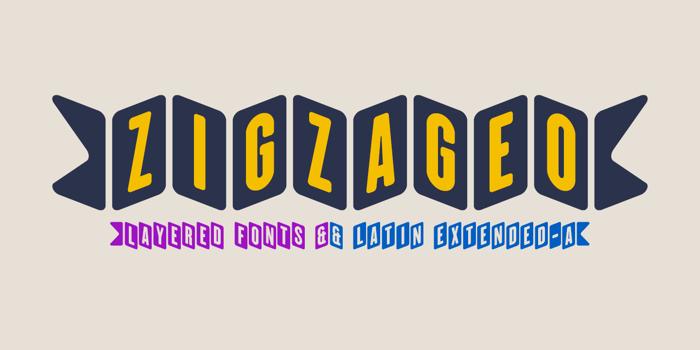 ZiGzAgEo Font poster