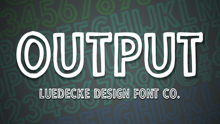 Output Font poster