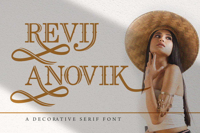 Revij Anovik Font poster