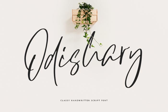 Odishary Font poster