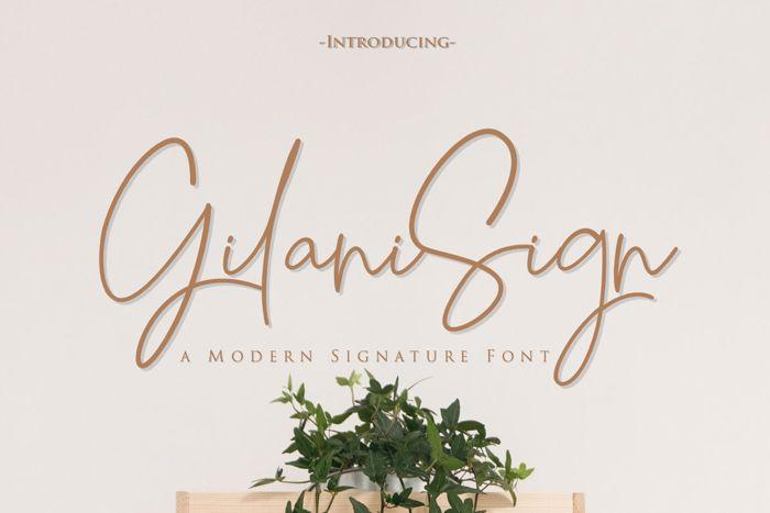 Gilani Sign Font poster