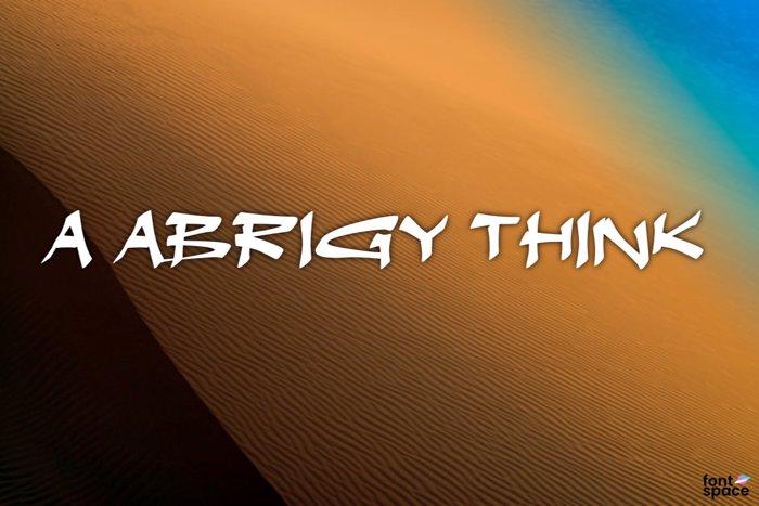 a Abrigy Think Font poster