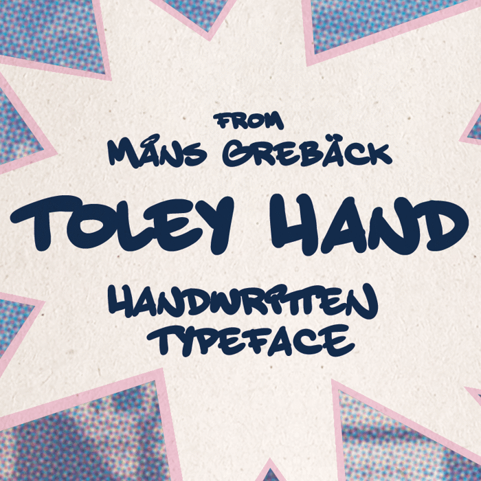 Toley Hand Font poster