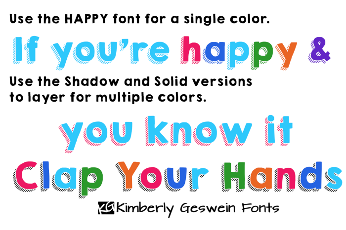 KG HAPPY Font poster