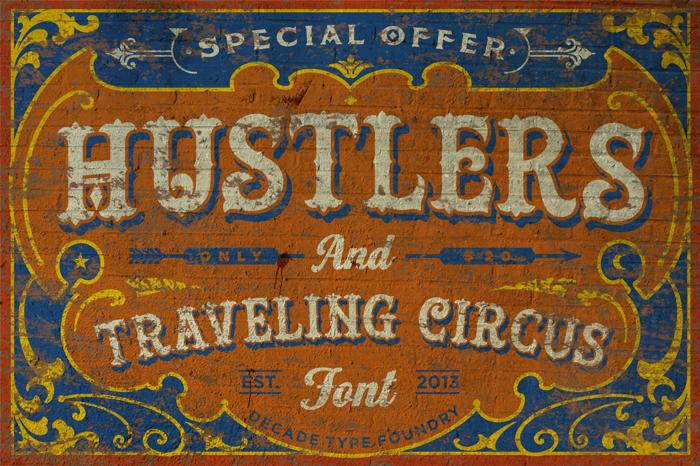 Hustlers Rough Font poster