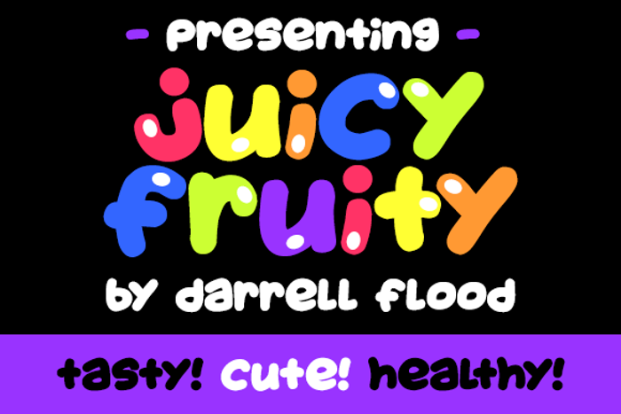 Juicy Fruity Font poster