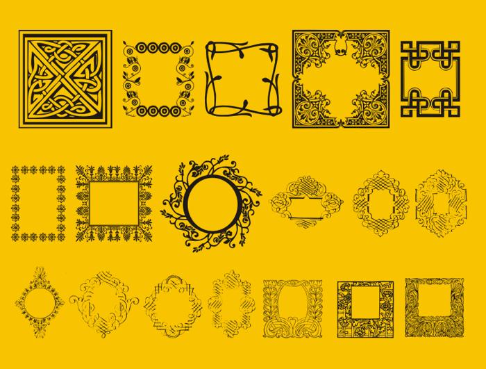 Caixinhas Decorativas Font poster