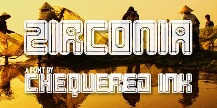 Zirconia Font poster