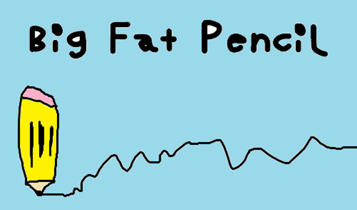 Big Fat Pencil Font poster