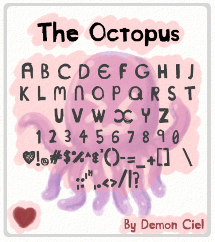 The Octopus Font poster