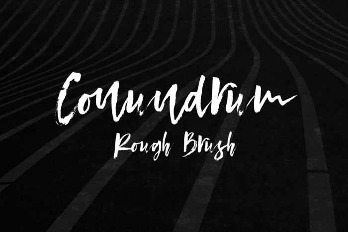 Conundrum Font poster