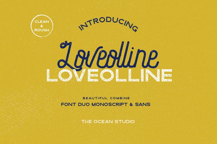 Loveolline Font poster