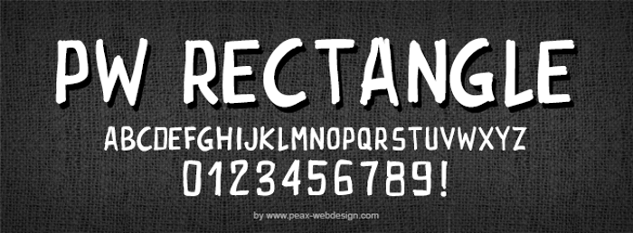 PWRectangle Font poster