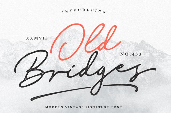 Old Bridges Font poster