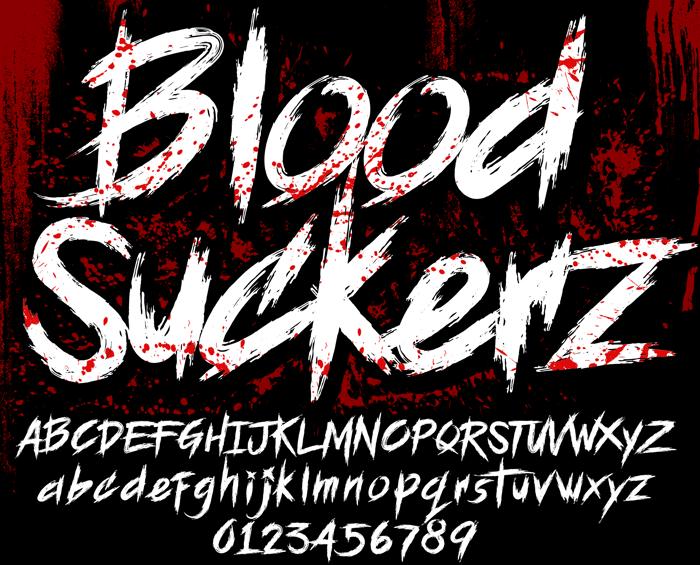 BLOODSEEKER Font poster