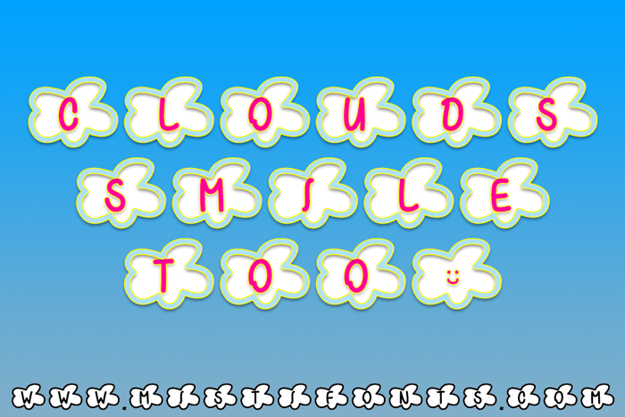 Clouds Smile Too Font poster