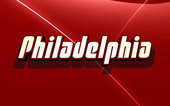 Philadelphia Font poster