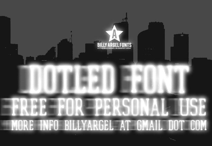 DOTLED Font poster