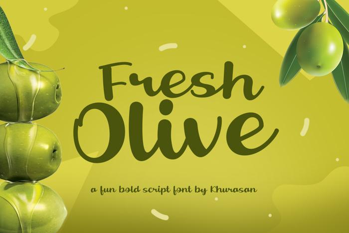 Fresh Olive Font poster