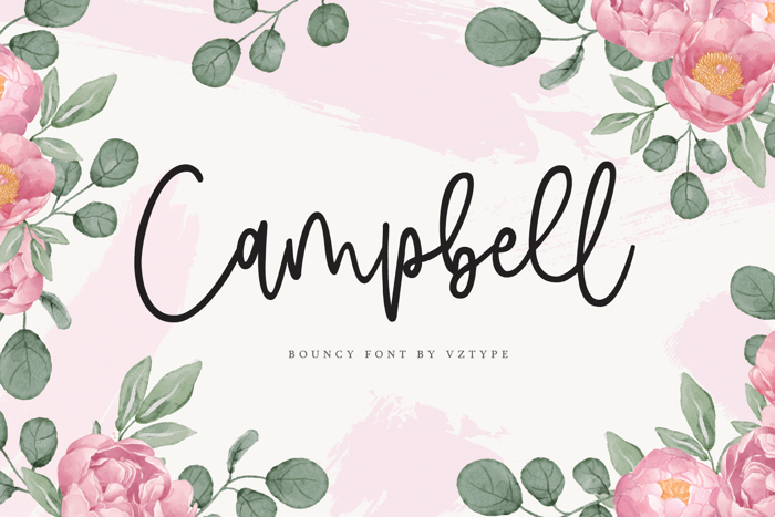 Campbell Font poster