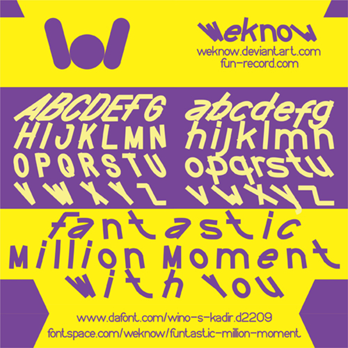 FUNTASTIC MILLION MOMENT Font poster