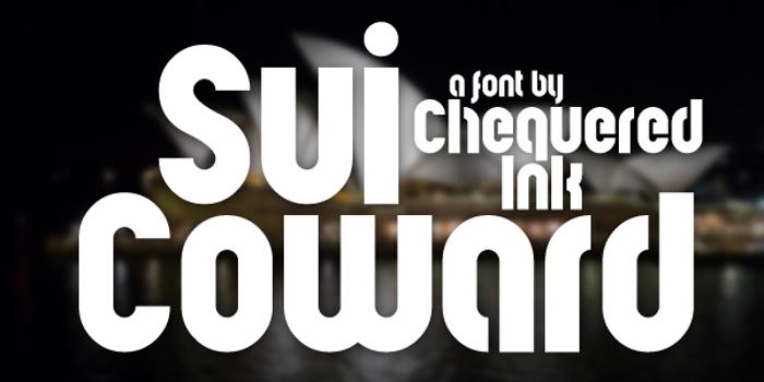 Sui Coward Font poster