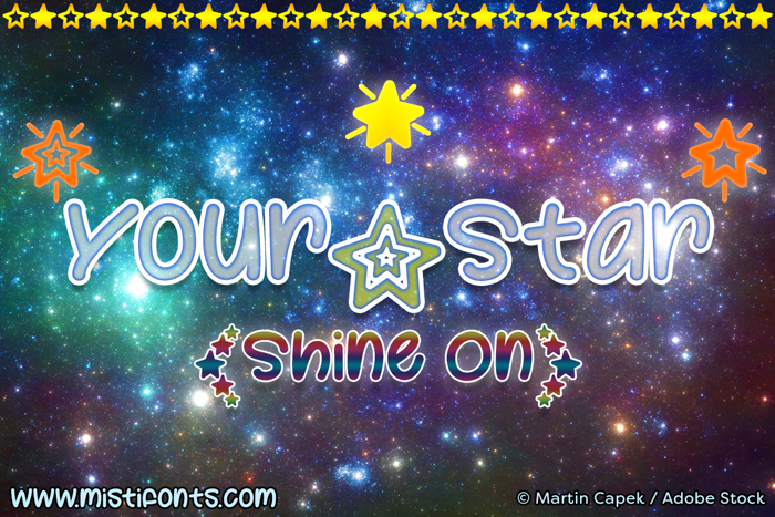 Your Star Font poster