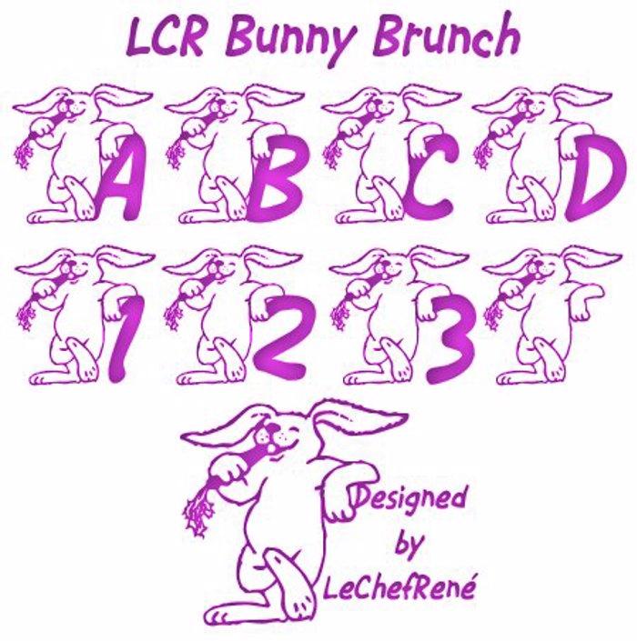 LCR Bunny Brunch Font poster