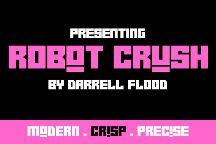 Robot Crush Font poster