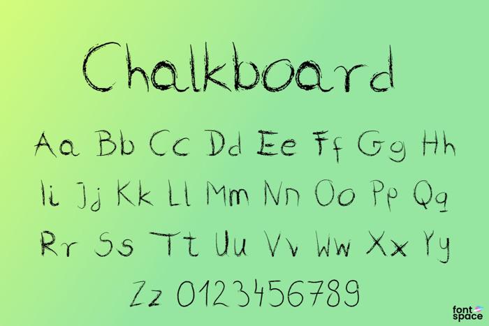 Chalkboard Font poster