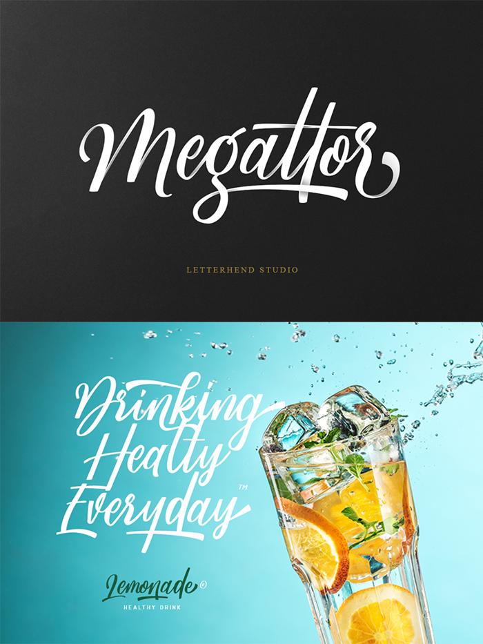 Megattor DEMO Font poster