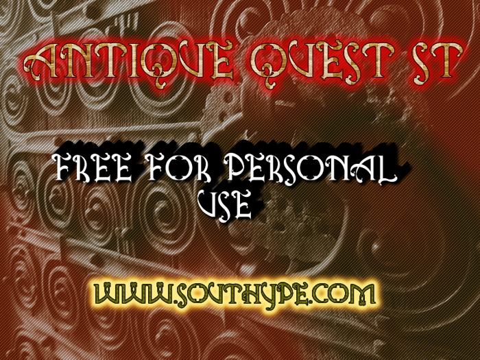 Antique Quest St Font poster