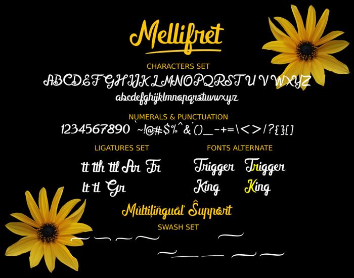 Mellifret_Demo Font poster