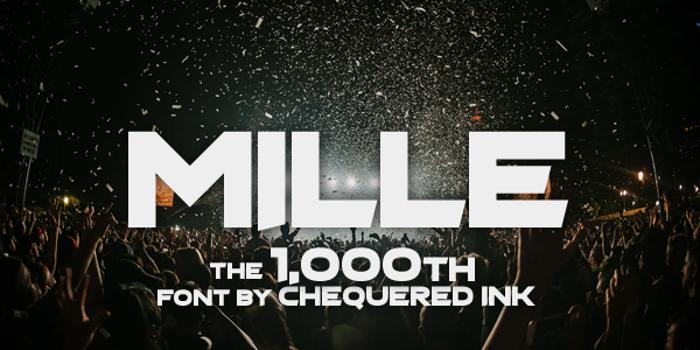 Mille Font poster