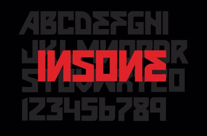 VTKS INSONE Font poster