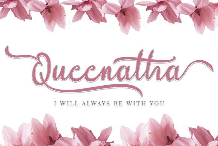 Queenatha Font poster