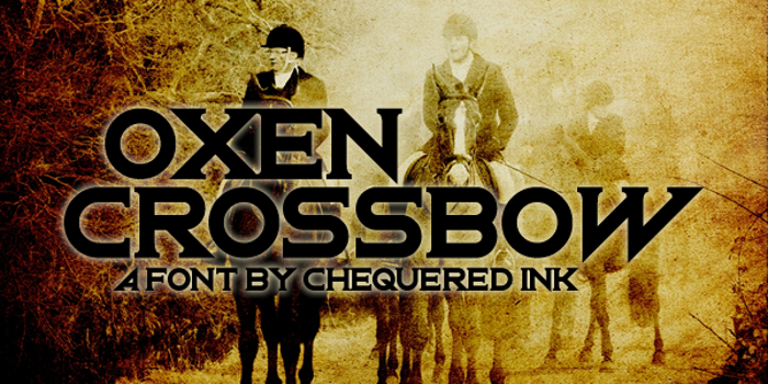 Oxen Crossbow Font poster