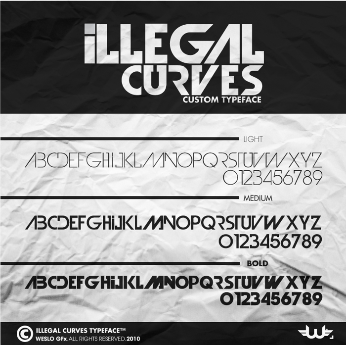Illegal Curves Font poster