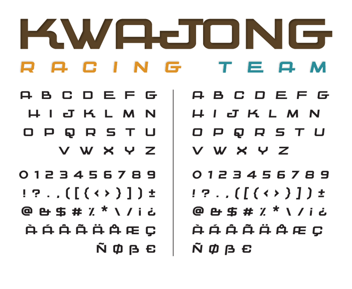 Kwajong Font poster