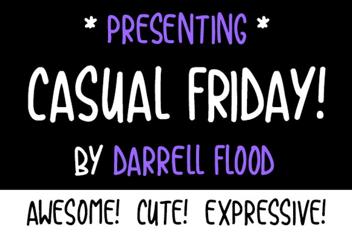Casual Friday Font poster