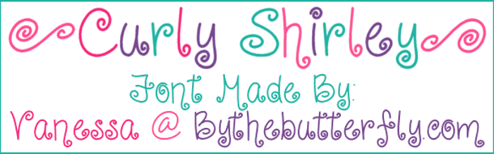 CurlyShirley Font poster