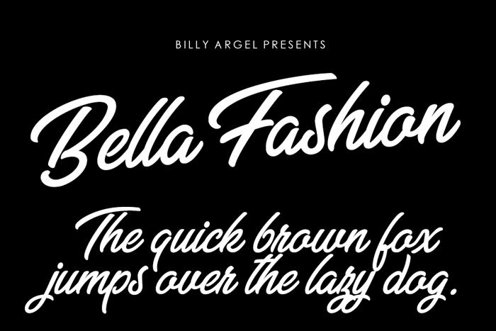 Bella Fashion Font poster