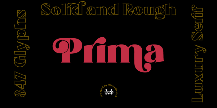 Prima Font poster
