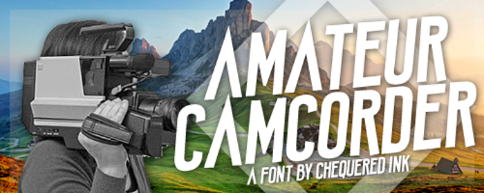 Amateur Camcorder Font poster